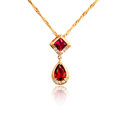 Diamond pendant isolated on white Royalty Free Stock Photo