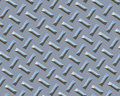 Diamond plate chrome beach bar Royalty Free Stock Images