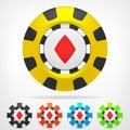 Diamond Poker Chip Set 3D Obje...