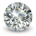 Diamond realistic vector illustration Royalty Free Stock Images
