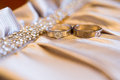 Diamond ring closeup on one Royalty Free Stock Image