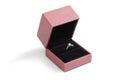 Diamond ring in a dark box Royalty Free Stock Photo
