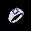 Diamond ring white gold with white diamonds Royalty Free Stock Image