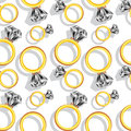 Diamond rings pattern Royalty Free Stock Photo