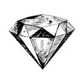 Diamond in the rough illustration sketch of a Stock Image
