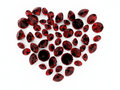 Diamond ruby heart Stock Photography