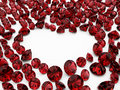 Diamond ruby heart Royalty Free Stock Image