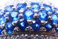 Diamond Sapphire Ring Close-up Royalty Free Stock Photos