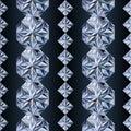 Diamond seamless banners, vector