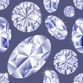 Diamond seamless pattern Stock Photography