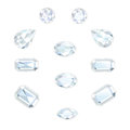 Diamond Set Isolated Objects Royalty Free Stock Photo