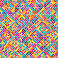 Diamond shape colorful eight seamless pattern Royalty Free Stock Photo