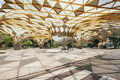 Diamond shape roof top detail of Garden pavilion in Kuala Lumpur`s Perdana Botanical Gardens in Jalan Tembusu, Malaysia Royalty Free Stock Photo