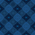 Diamond shape silhouette seamless pattern this illustration is design drawing with in blue color random and symmetry style with Royalty Free Stock Photo