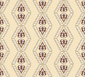 Diamond shaped pattern on a beige background brown and white color Royalty Free Stock Image