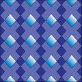 A diamond shapes seamless pattern in shades of blue Royalty Free Stock Image