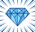 Diamond shine vector illustration of the Royalty Free Stock Image
