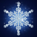 Diamond snowflake / Christmas background Stock Photos