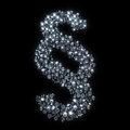 Diamond symbol of paragraph isolated on black Royalty Free Stock Image