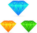 Diamond a vector drawing represents design Stock Images