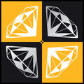 Diamond vector drawing of the set Royalty Free Stock Image
