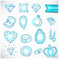 Diamond vector icons set this is file of eps format Stock Photo