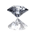 Diamond on white a background Royalty Free Stock Photography