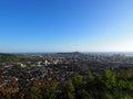 Diamondhead and the city of Honolulu, Kaimuki, Kahala, and ocean Royalty Free Stock Photo