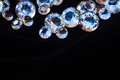Diamonds on black Royalty Free Stock Photo