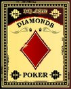 Diamonds Poker Vintage Poster Stock Image