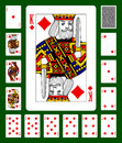 Diamonds suit playing cards Royalty Free Stock Photo