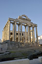 Diana temple remains of s in amerita augusta merida badajoz extremadura spain Royalty Free Stock Image