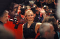 Diane kruger february berlin krueger at the opening of the berlinale film festival with the film shine a light at the potsdamer Royalty Free Stock Photography