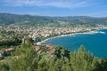 Diano marina italian riviera view to popular a seaside resort at liguria italy Royalty Free Stock Images