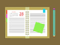 Diary calendar appointment book schedule pencil Royalty Free Stock Photo