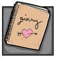 Diary clip art Royalty Free Stock Photo