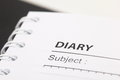 Diary empty book macro photograph Royalty Free Stock Photo