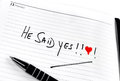 Diary proposal Royalty Free Stock Photography
