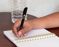 Diary written in everyday life Stock Image