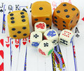 Dice & Cards Royalty Free Stock Photo