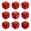 Dice Collection Four - Learning Royalty Free Stock Photos