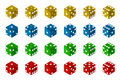 Dice collection translucent d illustration with clipping path Stock Image