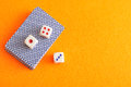 Dice and a deck of cards Royalty Free Stock Photo