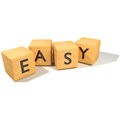 Dice and Easy Royalty Free Stock Photo