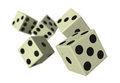 Dice falling down Royalty Free Stock Photo