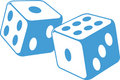 Dice illustration Royalty Free Stock Photography