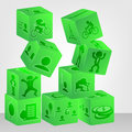 Dice illustration simple to edit for design  Image Royalty Free Stock Photo