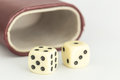 Dice isolated on white backgroud Royalty Free Stock Photo