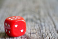 Dice love heart Valentines day abstract background Royalty Free Stock Photo