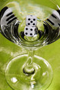 Dice Martini Stock Image